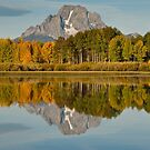 Mount Moran and Fall Colors Reflected in the Snake River by Jeff Goulden