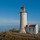 North Head Lighthouse Overlooking the Pacific Ocean by Jeff Goulden