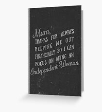 Happy Mother's Day - Independent Woman Greeting Card