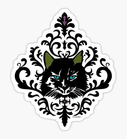 cat nap damask Sticker