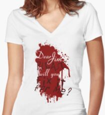 Dear Jim, Fix It For Me Women's Fitted V-Neck T-Shirt