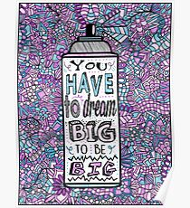 Hairspray Dream Zentangle Poster