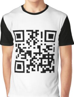 Keep mobile devices away in a QR Code (Black) Graphic T-Shirt