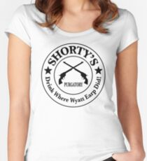 Shorty's Saloon from Wynonna Earp Women's Fitted Scoop T-Shirt