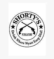 Shorty's Saloon from Wynonna Earp Photographic Print