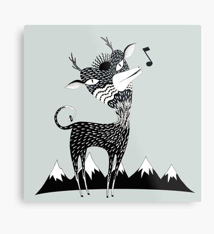 Singing Deer of the Shaggy Mountains Metal Print