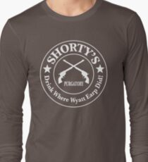 Shorty's Saloon from Wynonna Earp in white Long Sleeve T-Shirt