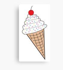 Vanilla Ice Cream Cone w/ Sprinkles Canvas Print