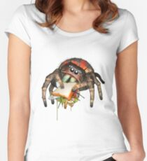 """Lunch on the Fly"" Jumping Spider Sandwich #2 Women's Fitted Scoop T-Shirt"