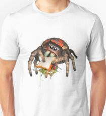 """Lunch on the Fly"" Jumping Spider Sandwich #2 T-Shirt"