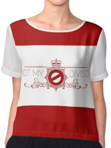 Not My Division Chiffon Top