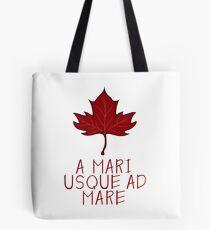 Canada Maple Leaf Motto Tote Bag