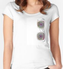 Trippy Shades  Women's Fitted Scoop T-Shirt