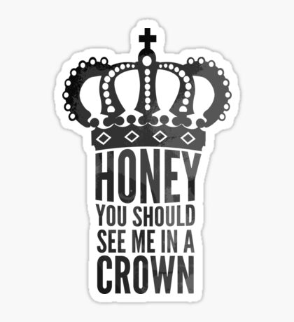 In A Crown Sticker