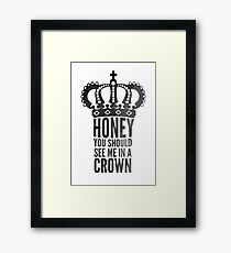 In A Crown Framed Print