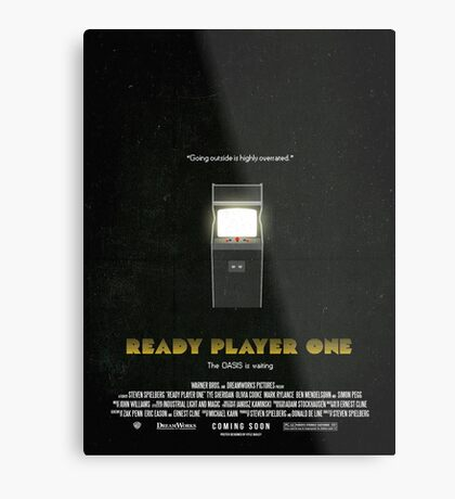 Ready Player One - Film Poster Metal Print