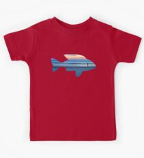 Fish & Seascape Fisherman Silhouette  Kids Clothes