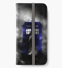The Doctor and his blue box iPhone Wallet/Case/Skin
