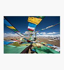 Praying flags in Tibet Photographic Print