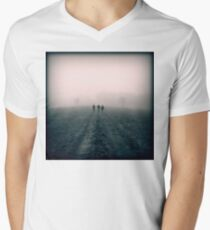 Distant Roads Mens V-Neck T-Shirt