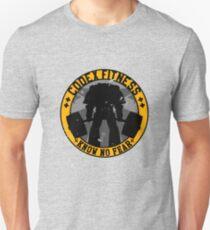 Keine Angst kennen (großes Abzeichen) Slim Fit T-Shirt