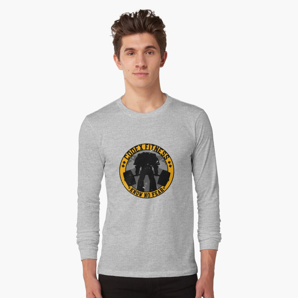Know No Fear (large badge) Long Sleeve T-Shirt
