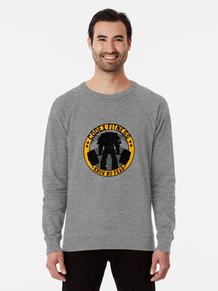 Alternate view of Know No Fear (large badge) Lightweight Sweatshirt