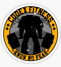 Know No Fear (large badge) Sticker