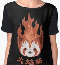 Legend of Korra: Fire Ferrets Pro Bending Emblem Women's Chiffon Top
