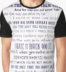 10 Things I Hate About You Graphic T-Shirt