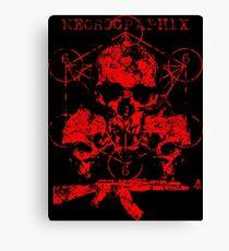 Skulls & Guns Canvas Print