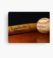 Louisville Slugger and MLB Ball Canvas Print