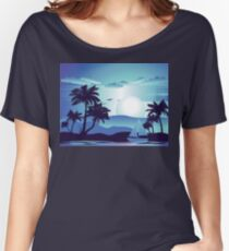 Palm Tree at Night 5 Women's Relaxed Fit T-Shirt