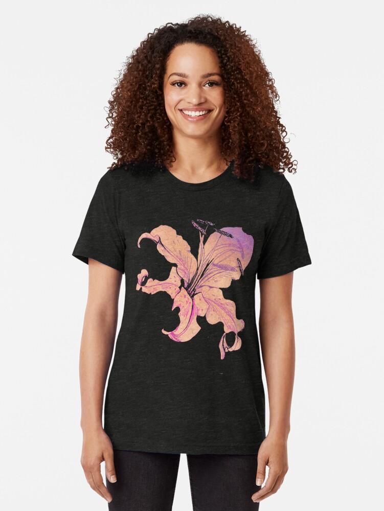Alternative Ansicht von goldene Lilien Vintage T-Shirt