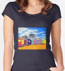 Brighton Bathing Boxes Women's Fitted Scoop T-Shirt