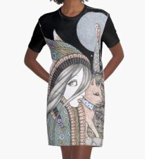 Creatures of the Night Graphic T-Shirt Dress