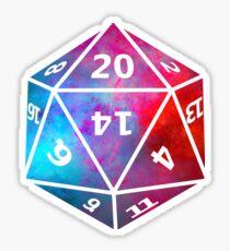 D20 Rainbow Sticker