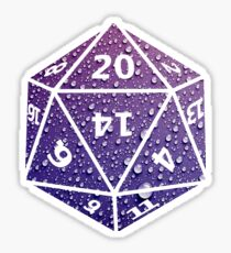 D20 Raindrops Sticker