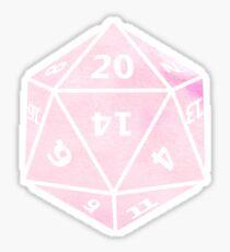 D20 - Pastel Pink Sticker