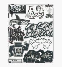 Black and White Graffiti Characters  iPad Case/Skin