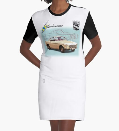 Volvo P1800S Coupe Graphic T-Shirt Dress