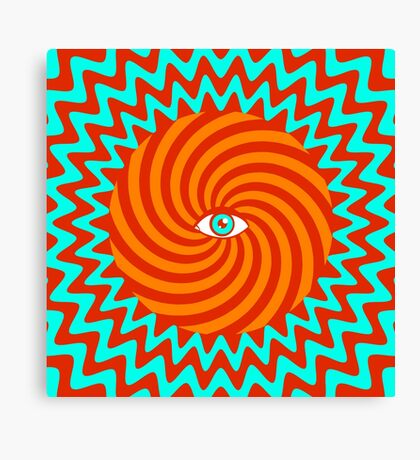 Hypnotic poster Canvas Print