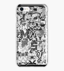 Black and White Graffiti Alphabet iPhone Case/Skin