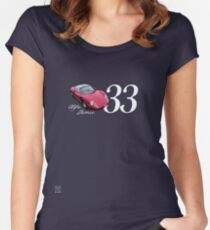 1967 Alfa Romeo Stradale 33 - Art on Wheels Women's Fitted Scoop T-Shirt