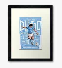 Diego Armando Maradona Gerahmtes Wandbild