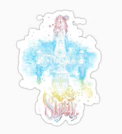 shiny space ship Sticker