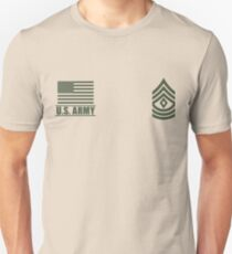 First Sergeant Infantry US Army Rank Desert by Mision Militar ™ Unisex T-Shirt