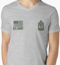 Camiseta de cuello en V En primer sargento de infantería del ejército de Estados Unidos Desert Rango de Misión Militar ™
