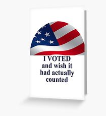 Voting Greeting Card