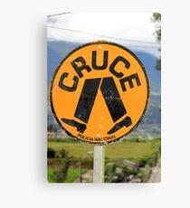 Spanish Crosswalk Sign Canvas Print